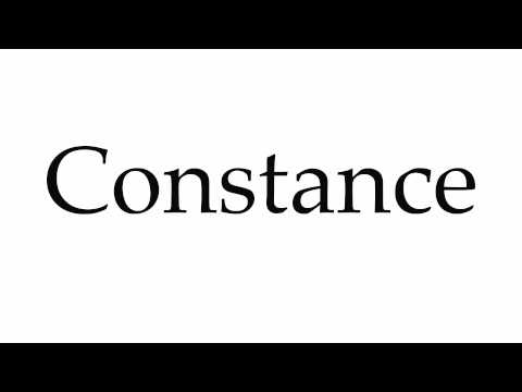 How to Pronounce Constance