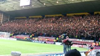 Falcao chant at Preston - Man Utd fans