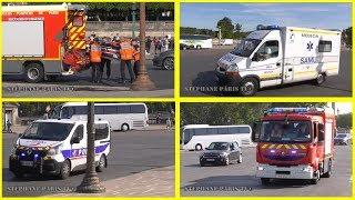 Pompiers ,Police ,SAMU ,leurs arrivée sur un accident