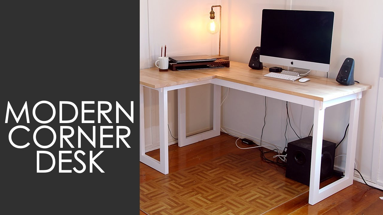 how to make a corner desk on a budget youtube. Black Bedroom Furniture Sets. Home Design Ideas