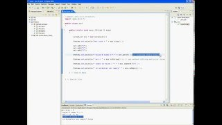 Java tutorial in Eclipse (ArrayList)