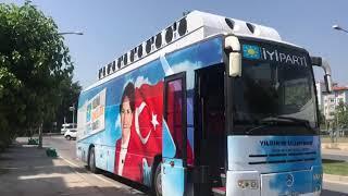 İYİ Parti Seçim Otobüsü Yollarda