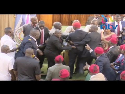 Uganda MPs engage presidential guard, exchange blows over age limit