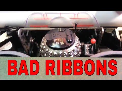 IBM Selectric II III Typewriter Ribbon Bad Bad & Good Defective Poor Print 1299095 Black Correctable