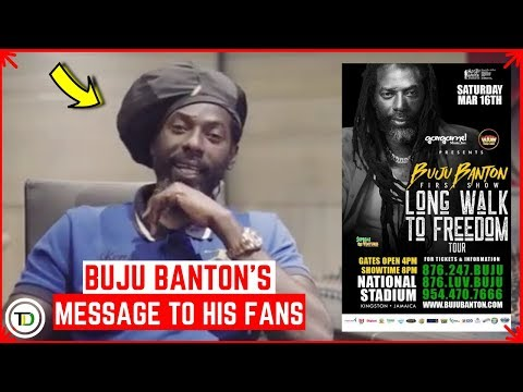 Buju Banton's CONCERT launch HIGHLIGHTS (Buju's MESSAGE to Fans)