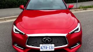 2016 infiniti q60 red sport awd 400 video review