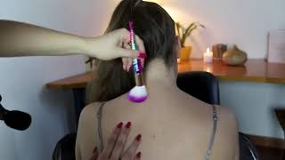 BACK and NECK MASSAGE, Brushing, Scratching, Tracing | ASMR