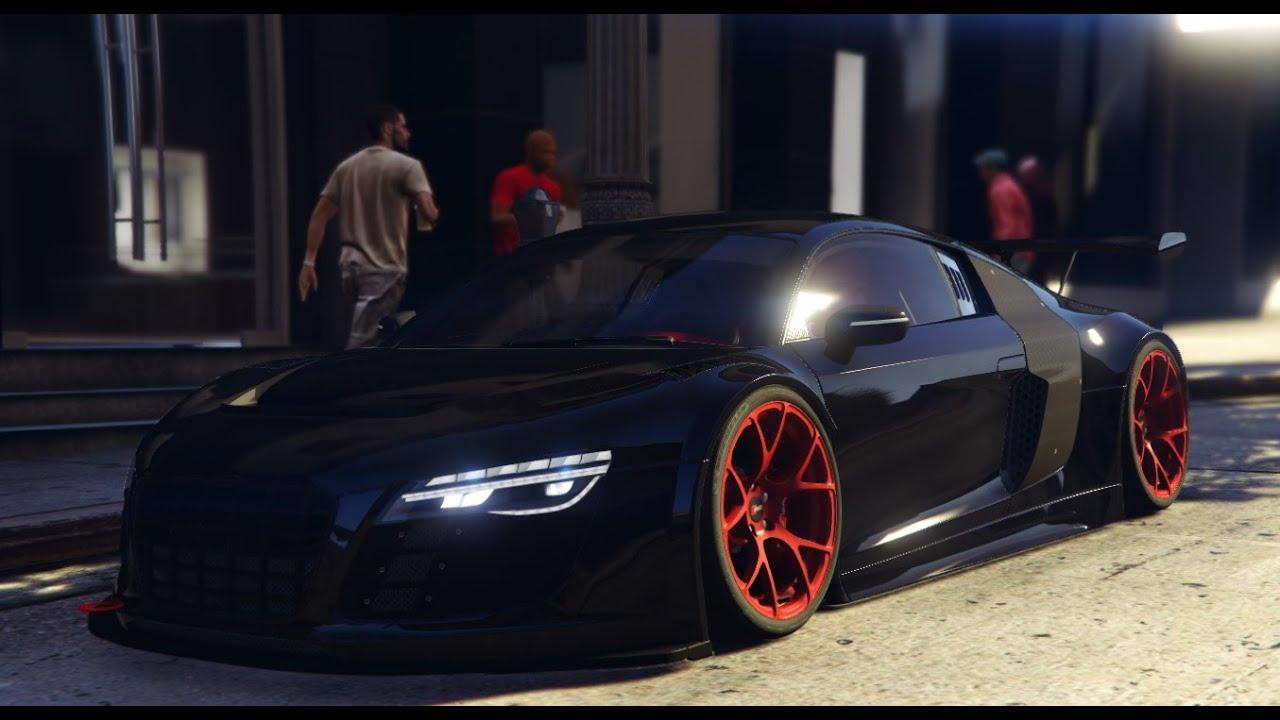 GTA V Audi R LMS Street Custom BLACK PC MOD YouTube - Audi custom