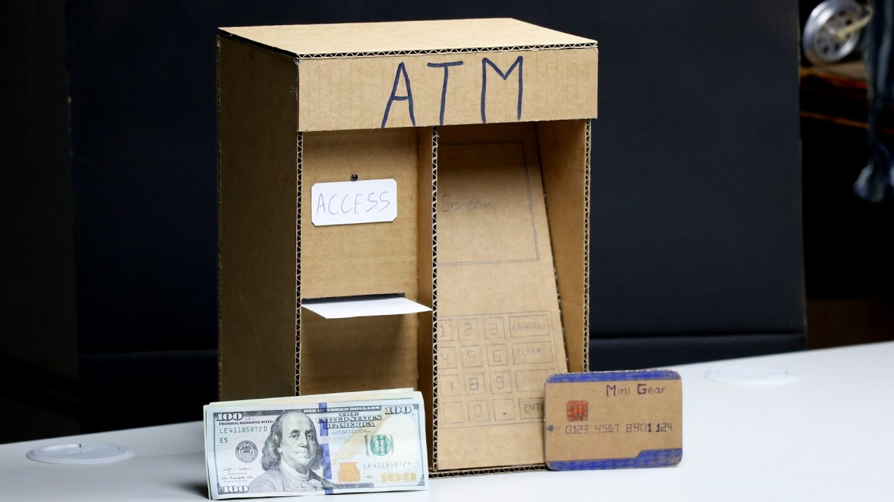 Amazing ATM Machine DIY For Kids