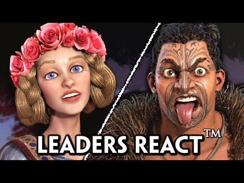 Civilization 6: Gathering Storm - All NEW Leaders REACT™ To War Declaration & Defeat Cutscenes