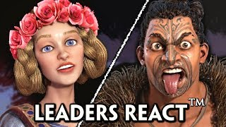 Civilization 6: Gathering Storm - All NEW Leaders REACT™ to War Declaration & Defeat Cutscenes
