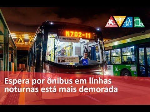 Espera por ônibus em linhas noturnas de SP está mais demorada