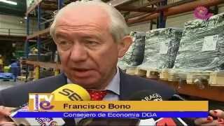 La Comarca.tv - Visita Consejero Bono a Spain Rubber de Alcañiz