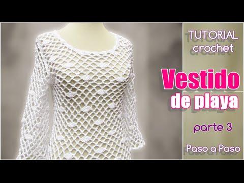 Vestidos a crochet de mujer paso a paso