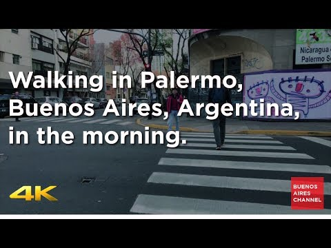Walking in Palermo, Buenos Aires, Argentina, in the morning.