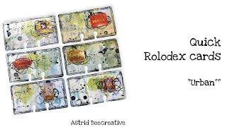 Some quick Rolodex cards
