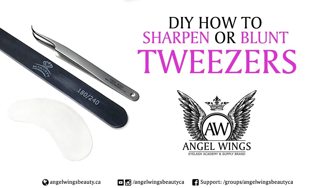 ba2552e4d94 18 DIY How to sharpen or blunt eyelash extension tweezers at home ...