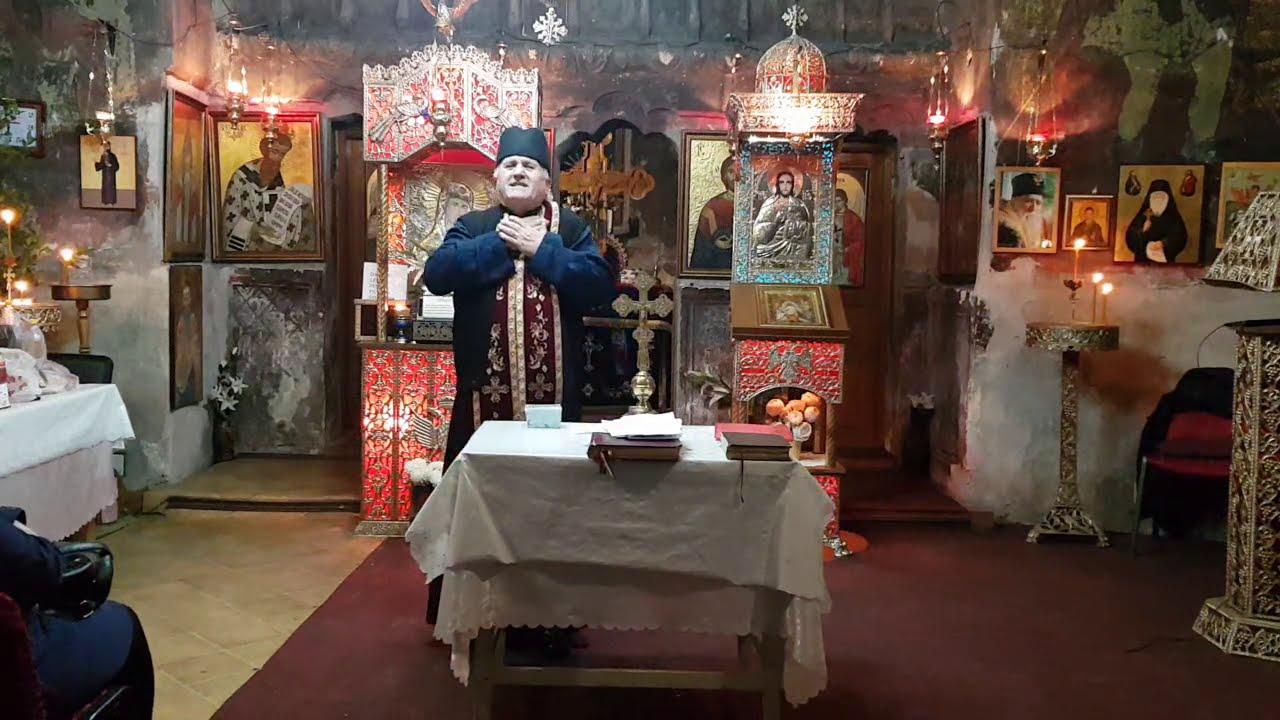 Preot Vasile Spătaru Predica de pe 27 noiembrie 2020 de la Sf. Maslu