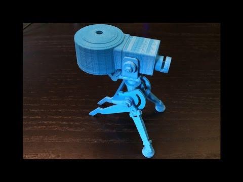 3D printer time lapse: TF2 lvl 1 sentry gun