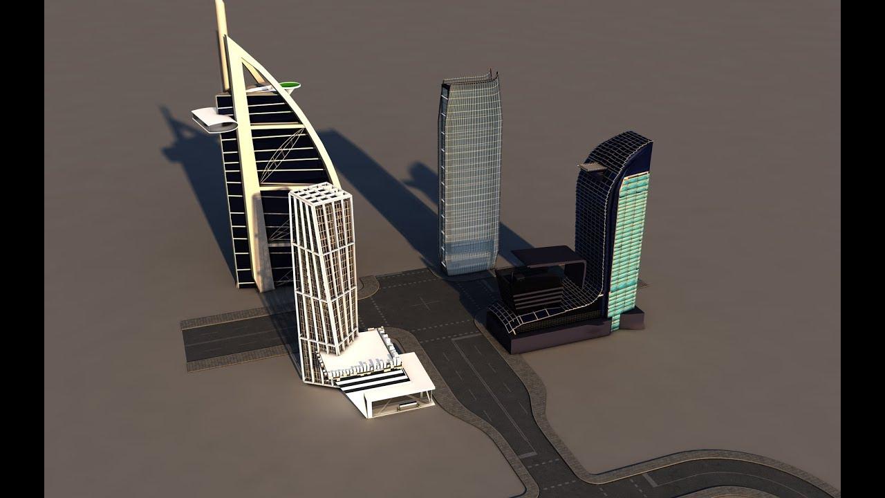 Cinema 4D Tutorial 3D model Cambodia Future City Skycraper Live Stream