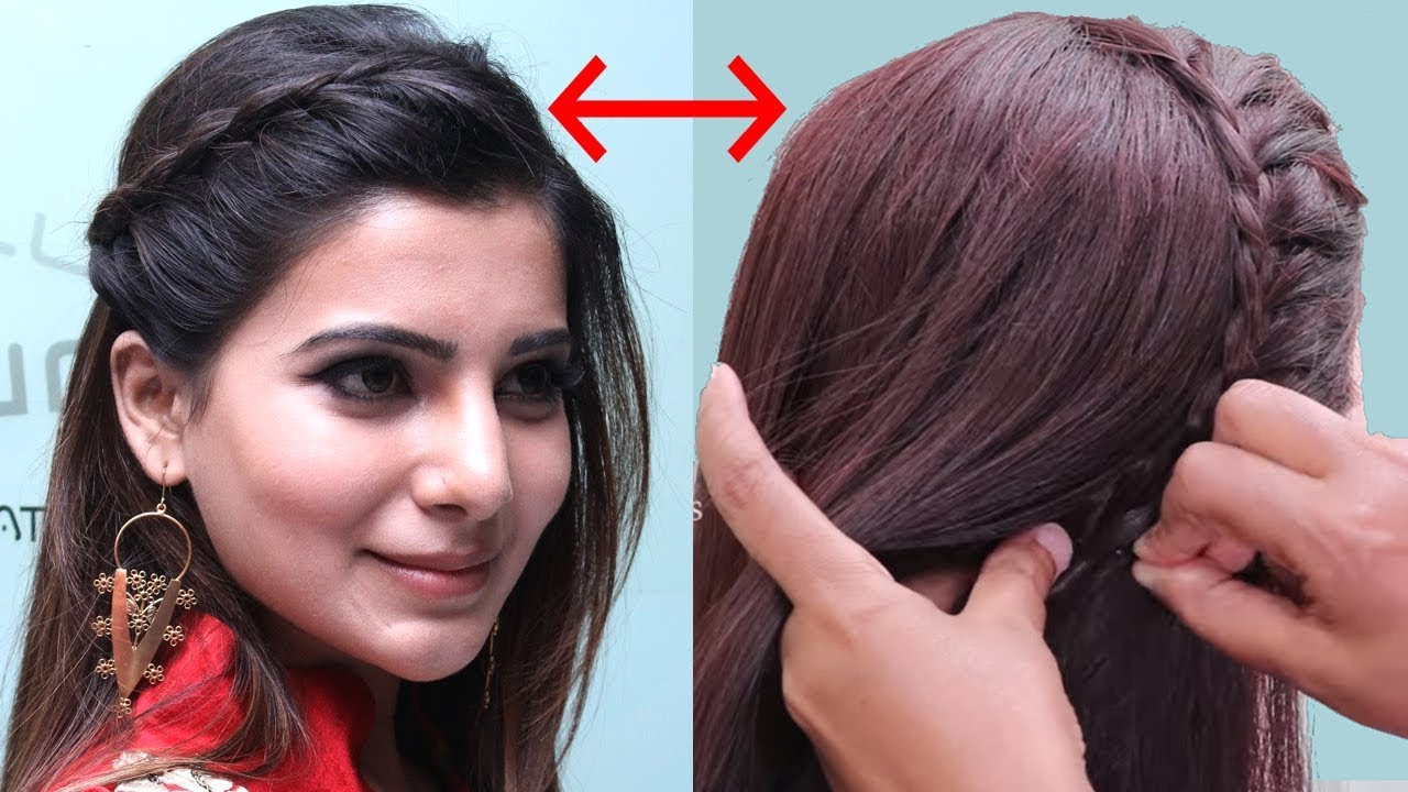 actress samantha inspired hairstyle tutorial | quick party hairstyle