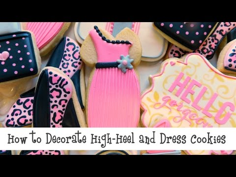How to Decorate High-Heel and Dress Cookies