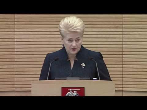 EBU Lithuania Grybauskaite State of Nation