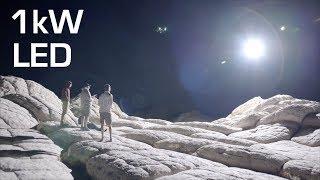 1kW LED on DRONE Over Desert + Aerial Video - RCTESTFLIGHT