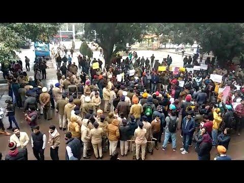 Panjab University Students Protest Against Violent Attack On JNU Students, Teachers
