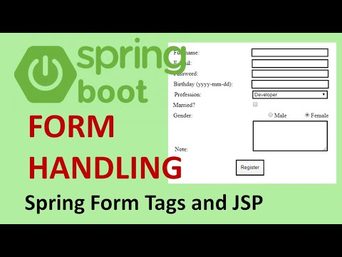 Spring Boot Form Handling with Spring Form Tags And JSP