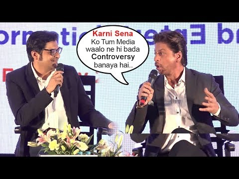 Padmavati: SRK Slams Arnab Goswami & News Channels For Making Karni Sena Into A Big Controversy