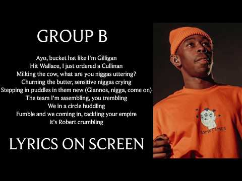 Tyler, the Creator - GROUP B (Lyrics on screen) from YouTube · Duration:  1 minutes 59 seconds
