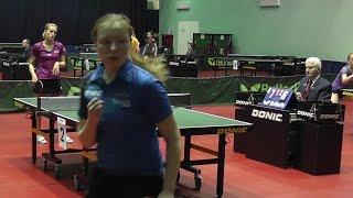 Анна КОЗЛОВСКАЯ - Анастасия ВОРОНОВА 1/2 ФИНАЛа Настольный теннис, Table Tennis