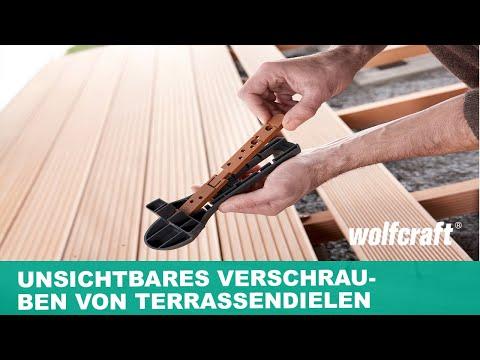 wolfcraft verdecktes verschrauben von terrassendielen starter set art nr 6971000 youtube. Black Bedroom Furniture Sets. Home Design Ideas