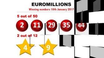 Euromillions / Euromillionen Zahlen vom 10.01.2017; Jackpot nicht geknackt