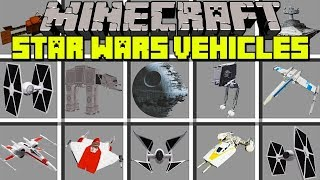Minecraft STAR WARS VEHICLES MOD! | FLY X-WING, Y-WING, STAR DESTROYER & MORE! | Modded Mini-Game