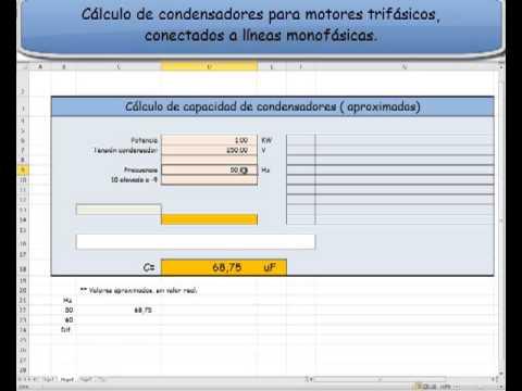 Cálculo de condensadores para motores trifásicos como monofásicos ...