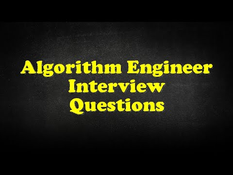 Algorithm Engineer Interview Questions