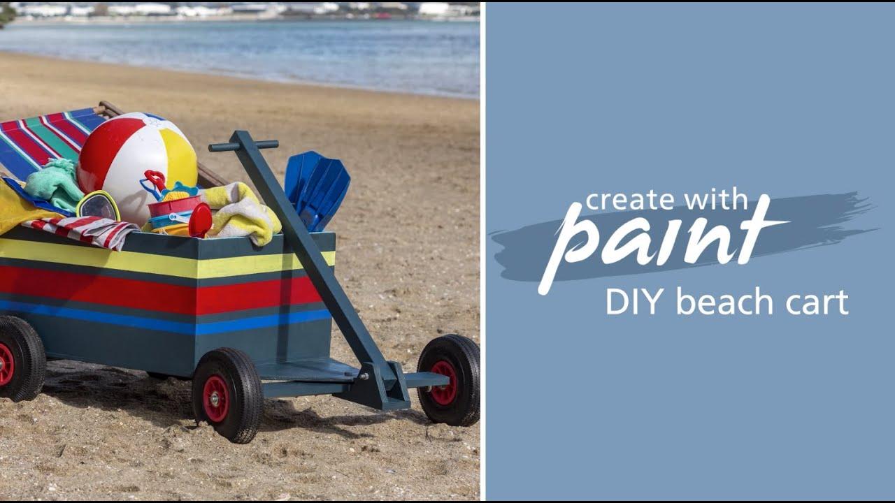Habitat TV Video: DIY beach cart Build your own Beach cart or garden wagon