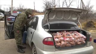 Поліцейські перекрили товарне сполучення  викрили контрабандні сосиски