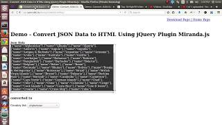 Convert JSON Data to HTML Using jQuery Plugin Miranda.js