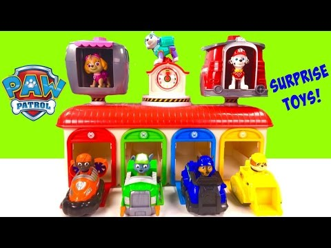 Paw Patrol Magical Toy Surprise Tayo Bus Garage! Blind Bags & Chocolate Eggs!