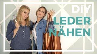 Tasche aus Leder im American Apparel Style nähen   nähen für Dummies: Leder