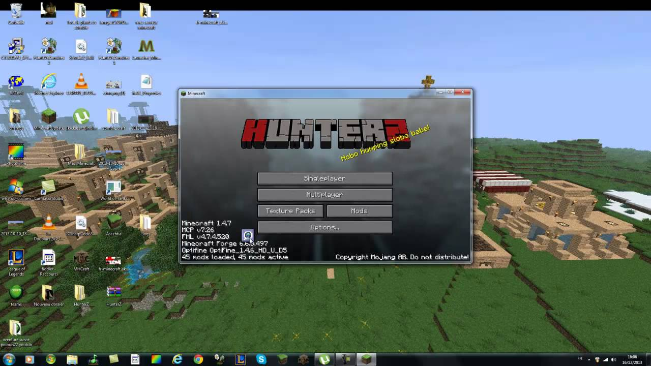 hunterz minecraft gratuit