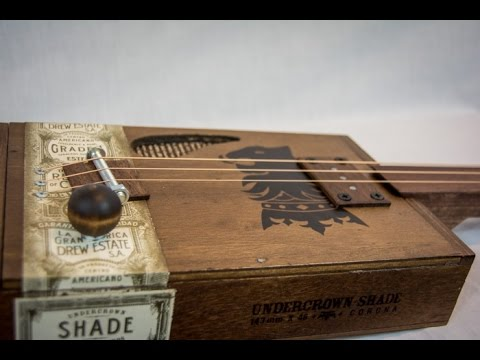 handmade 3 string fretless acoustic electric cigar box guitar drew estates for sale youtube. Black Bedroom Furniture Sets. Home Design Ideas