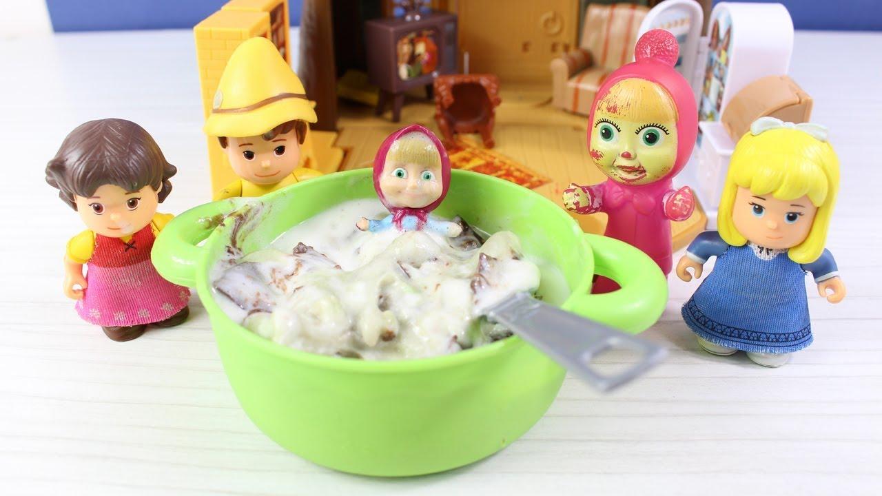 Masha Dondurma Yapıyor Heidi Peter Clara Ve Abla Maşa Dondurma Yiyor Çizgi Film İzle