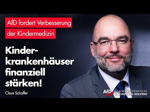 Claus Schaffer (AfD): Kinderkrankenhäuser finanziell stärken!