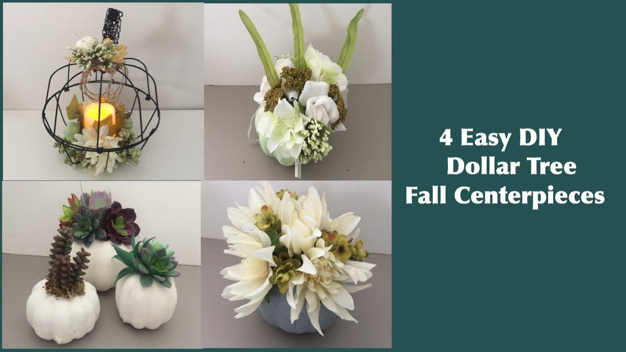 4 Amazing Dollar Tree Diy Fall Centerpieces For Home Decor And Weddings 2018