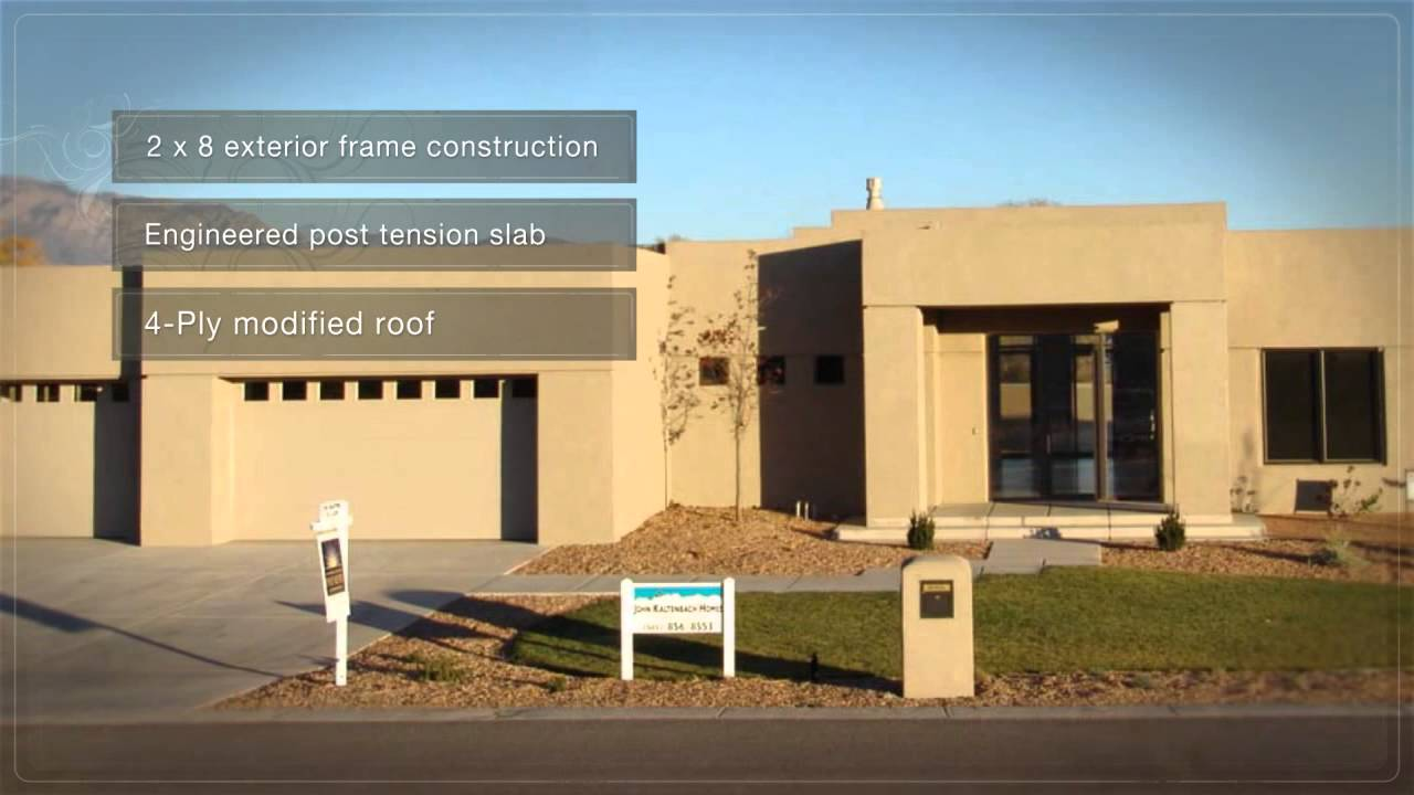 albuquerque nm modern style custom home youtube