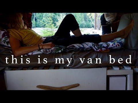 Sleeping 2 in My Astro Van While Saving Space I DIY Van Life Bed